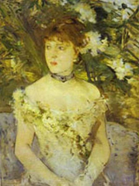young woman in an evening dress 1879 XX musee dorsay paris france